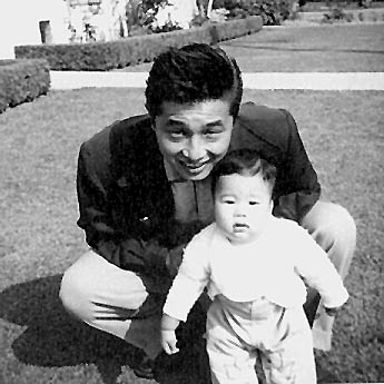 Me and Dad Oct 1955