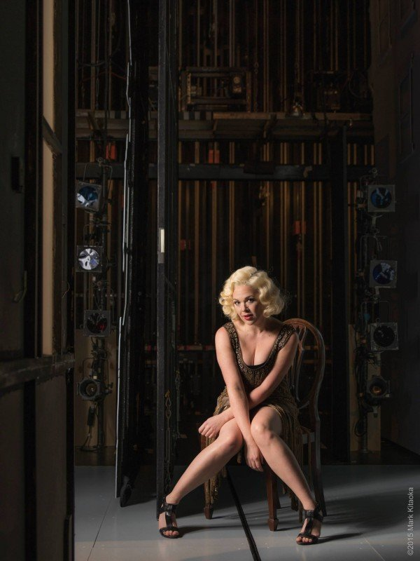 Publicity image for Cabaret. Shot backstage in the client's theatre to add the environment. The Marketing Director asked on an impromptu basis for 'something that gives context to the story.' Being able to improvise on the fly is key and can often yield amazing results.
